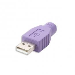 ADAPTADOR (PS/2 A USB) - PS/2 Hembra / USB Macho -  CTM022