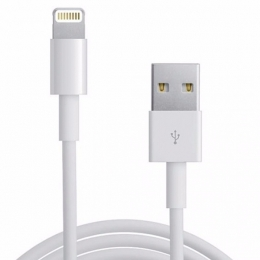 CABLE USB AM / IPHONE 5/6/7/8/X - 2.1 A CARGA RAPIDA - 1,20MTS. USB014