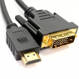 CABLES VIDEO HDMI A DVI-I 24+1 1,80MTS - CPM046