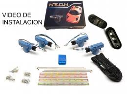 Cierre Centralizado Neon 4 puertas Universal Cualquier Vehiculo un porton lateral