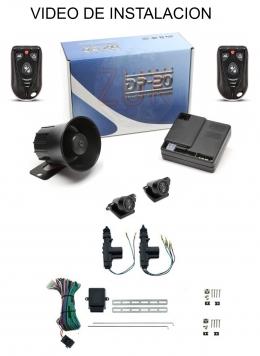 Alarma auto DP20 TX915 New con sensor volumetrico (ultrasonido) + cierre centralizado electrico 2ptas