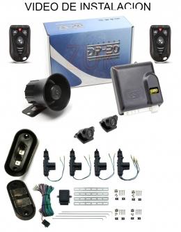 Alarma auto DP20 TX SB con sensor volumetrico (ultrasonido) + cierre centralizado electrico 4ptas 1 porton lateral