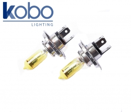 Kit 2 Lamparas amarillas H4 Pt43 12v 60/55w Kobo 12342