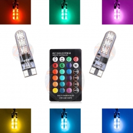 Kit led T10 RGB con control remoto