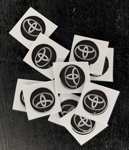 Logo Toyota Para Llaves Navaja De 14mm Negro