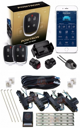 Alarma auto Positron Px360bt con sensor volumetrico (ultrasonido) sistema Bluetooth + cierre centralizado electrico 4ptas