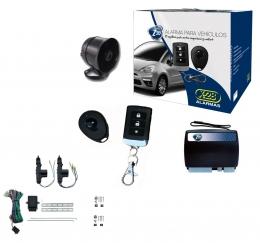 Alarma auto X28 Z20 RH con sensor volumetrico (ultrasonido) mensajes hablados - antiasalto presencia + cierre central electrico 2ptas
