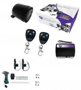 Alarma auto X28 Z10 con sensor volumetrico (ultrasonido) con sirena + cierre central electrico 2ptas