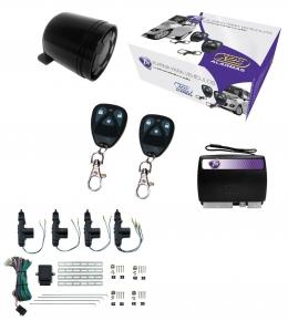Alarma auto X28 Z10 con sensor volumetrico (ultrasonido) con sirena + cierre central electrico 4ptas