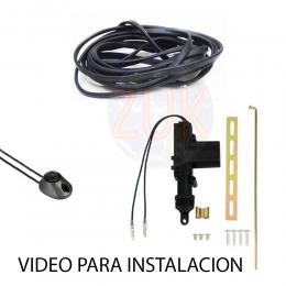 Apertura de baul electrica por solenoide tecla y cable