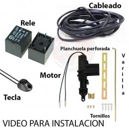 Apertura electrica De Baul Por Solenoide tecla, cable y relay
