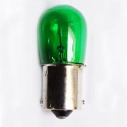 10 Lamparas B19 24v 15w Ba15s Verde Pata Pareja