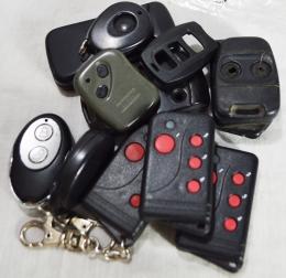 Lote de carcasas usadas de control remoto